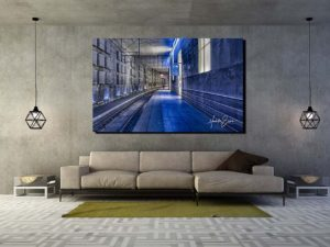 The modern loft living room interior design